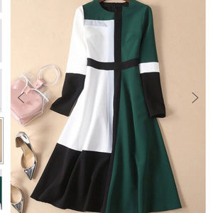 StyleWe Casual A-Line Color Block Dress - Size L